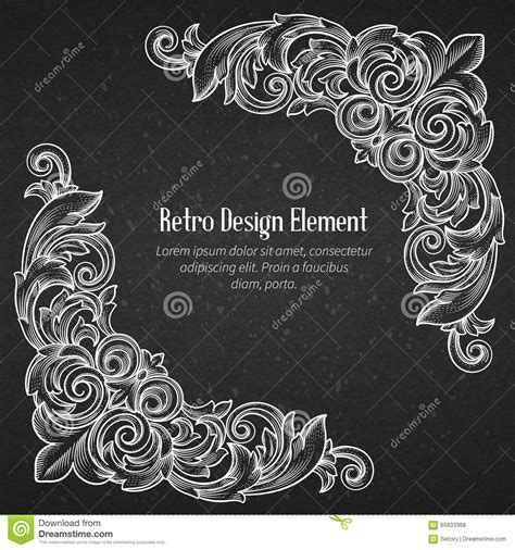 decorative baroque design elements vector vintage baroque corner stock vector image 65833368