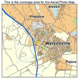 watsonville california map aerial photography map of watsonville ca california