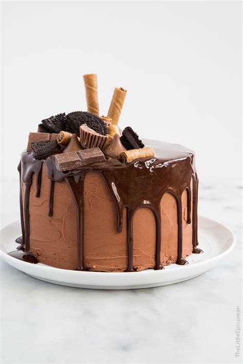 how to decorate chocolate cake at home death by chocolate cake the little epicurean