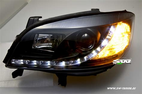 led len kaufen sw light headlights opel zafira a 99 05 led positionlight