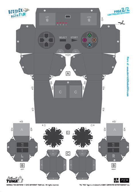 Playstation Papercraft - all sizes controller paper template flickr photo