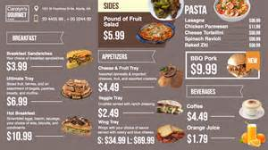 Menu Board Design Templates Free by Design A Digital Menu Board Free Template Included