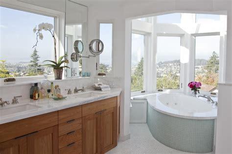 window over bathroom sink double vanity under window