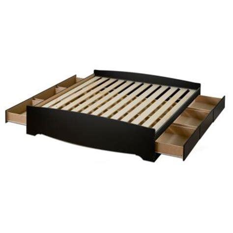 prepac sonoma black king platform storage bed 4 pc bedroom prepac sonoma king 6 drawer platform storage bed in black