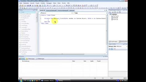 tutorial visual basic 2008 visual basic 2008 tutorial combobox youtube
