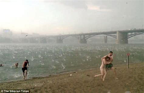 Putin S Plane by Watch Siberian Beach Hit By Hailstorm On One Of The