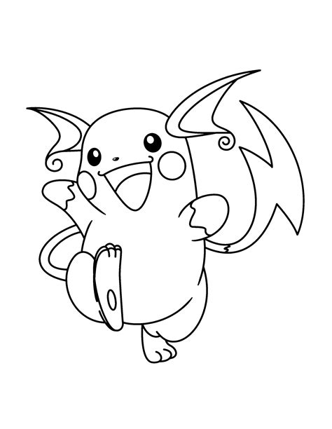 free coloring pages of raichu pokemon