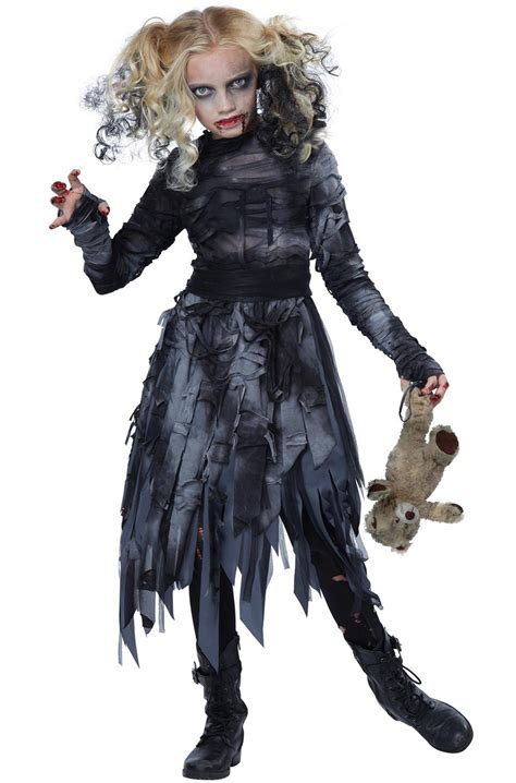 zombie girl child costume purecostumescom