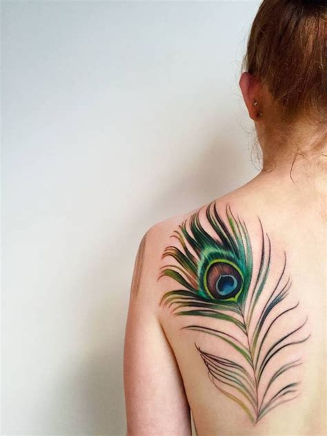 feather tattoo on shoulder 25 best ideas about peacock feather on