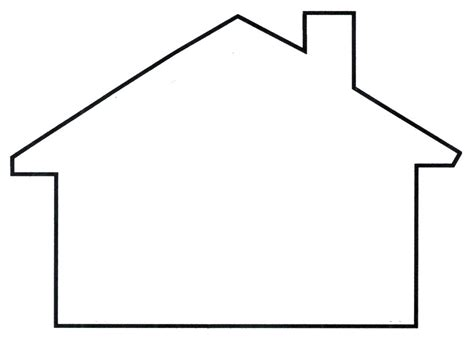 shape house house template clipart best templates pinterest