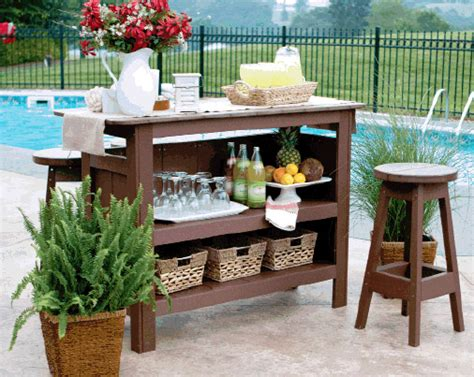 Outdoor Bar Furniture Bars And Benches Poly Furniture Shipshewana In
