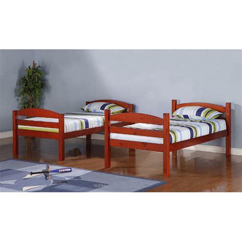 cherry bunk beds walker edison wooden bunk beds cherry bwstotch