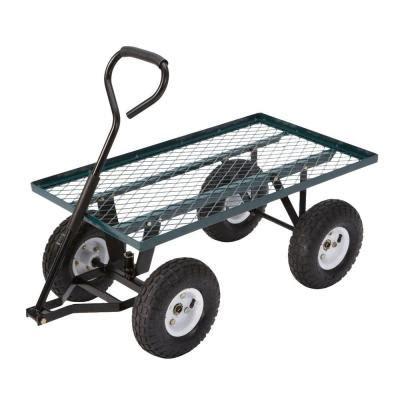 farm ranch 300 lb steel flatbed utility cart for 59 99