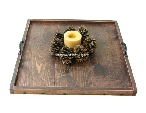 large wood tray for ottoman personalized ottoman tray engraved wooden by bridgewoodplace