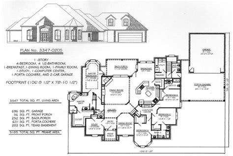 home floor plans 3 car garage 4 bedroom 1 story 2901 3600 square