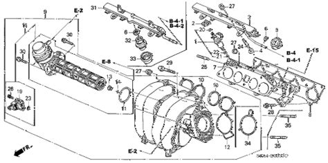 2003 honda crv parts diagram honda store 2003 crv intake manifold parts