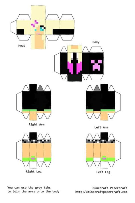 How To Make A Minecraft Person Out Of Paper - papercraft minecraft skins buscar con
