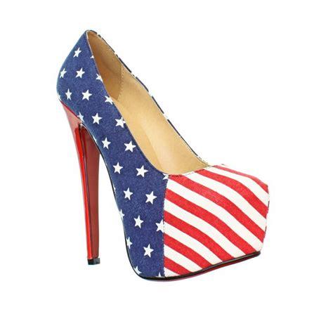 womens american flag high heel platform and stripes