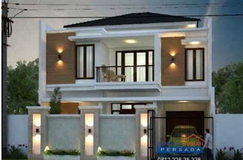 desain rumah minimalis  lantai  lahan   desain   jadi