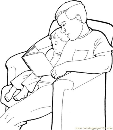 coloring pages father with his son colorin peoples