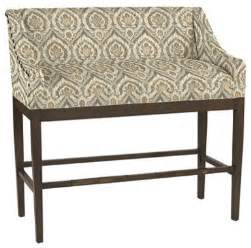 Barstool Bench Marcello Counter Bench With Antique Brass Nailheads