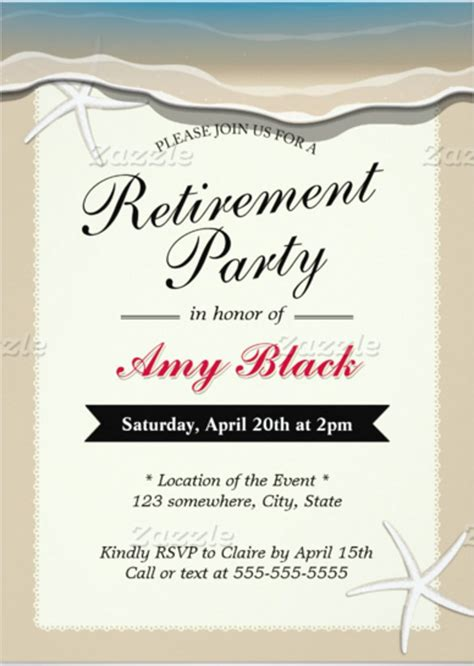 free retirement invitations templates retirement invitation template 15 free psd vector eps