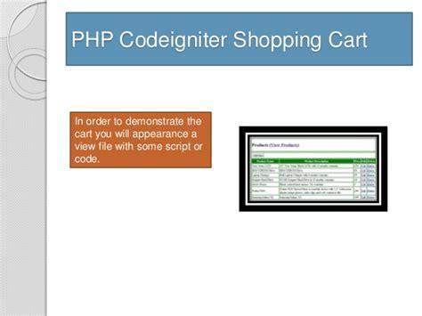 Codeigniter Tutorial Shopping Cart | php codeigniter shopping cart
