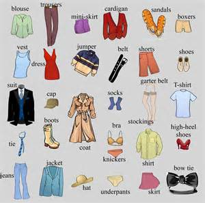 clothes vocabulary to learn to