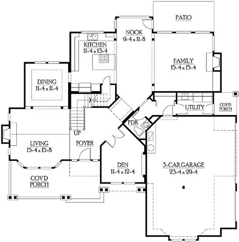 side garage floor plans side entry garage perfect for corner lot 23114jd 2nd