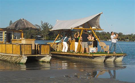 Floating Tiki Bar Best Places To On A Boat This Summer In
