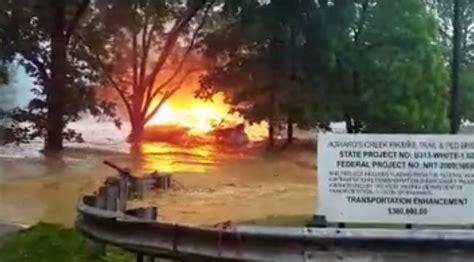 West Virginia Burning burning house carried by west virginia flood