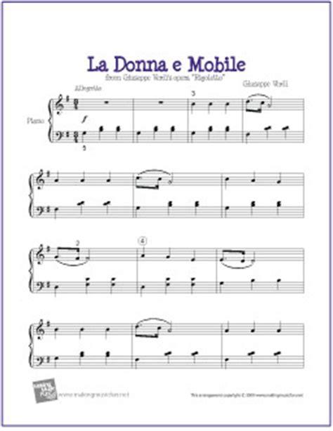 la donna è mobile la donna e mobile free easy piano sheet