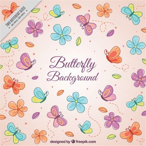 sfondi fiori e farfalle sfondo rosa con farfalle e fiori scaricare vettori gratis