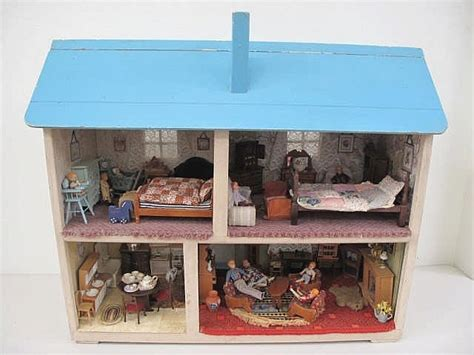 doll house balgowlah large vintage wooden doll s house containing approx fifty it