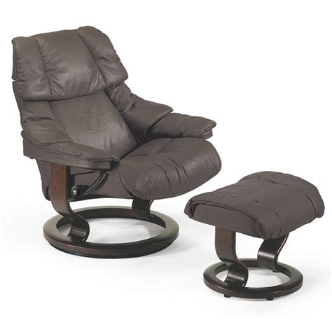 Stressless Recliners by Stressless Reno Large Recliner And Ottoman Classic Base