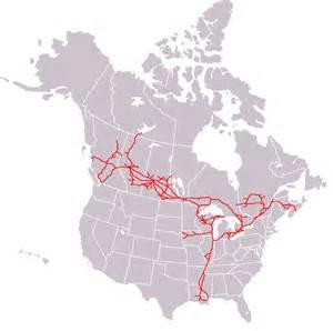 canada railway map canadian national railway