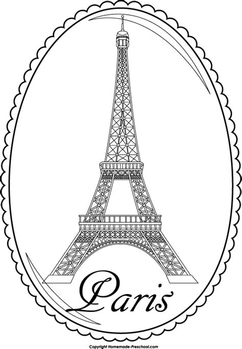 free coloring pages of paris