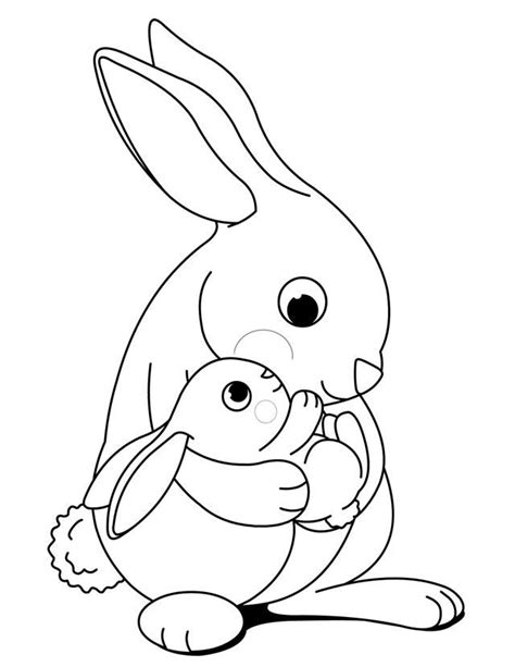 coloring pages bunnies printable bunny color page az coloring pages