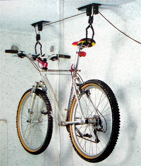 Bike Rack Pulley System by Ceiling Mounted Bicycle Rack Pulley Storage Systems