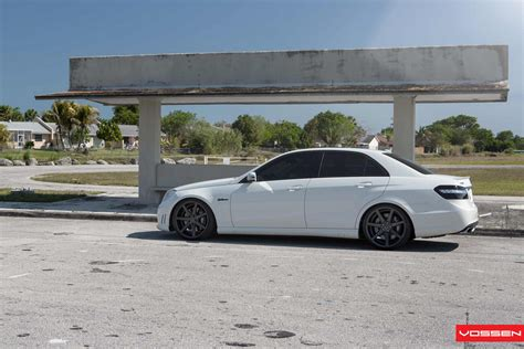 lowered amg superb e63 amg lowered on vossen cv7s