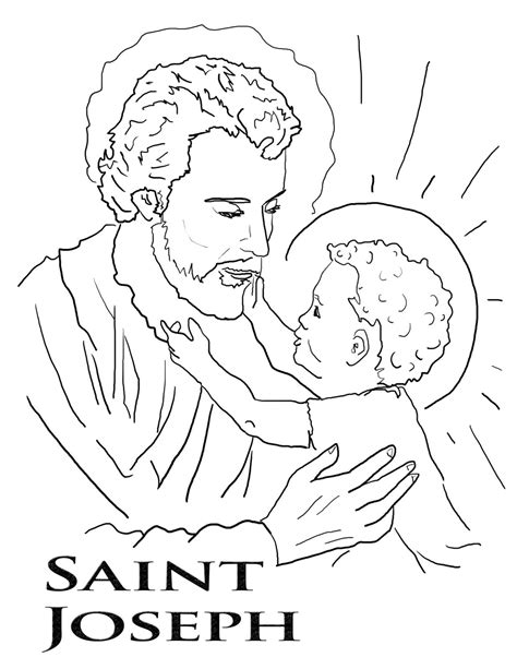 coloring sheets for joseph st joseph coloring page feast of st joseph patron