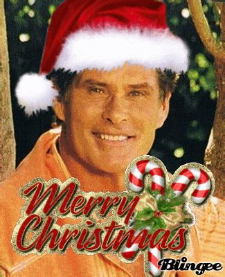 david hasselhoff merry christmas picture  blingeecom