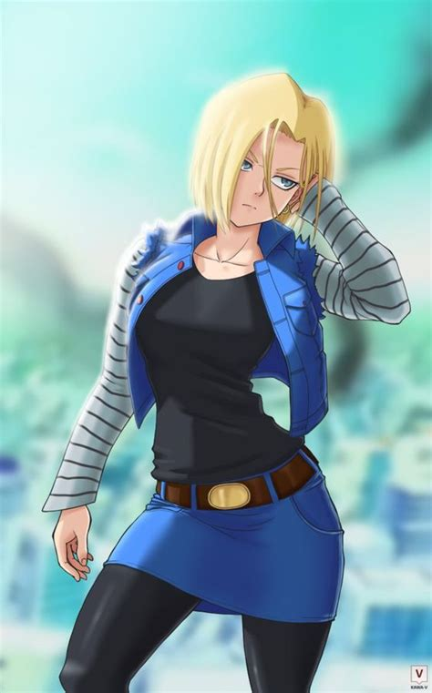 z android 18 android 18 by kawa v fanart and deviantart