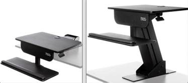 Adjustable Sit Stand Desk Adjustable Height Gas Easy Lift Standing Desk Sit Stand Up Desk Computer Workstation