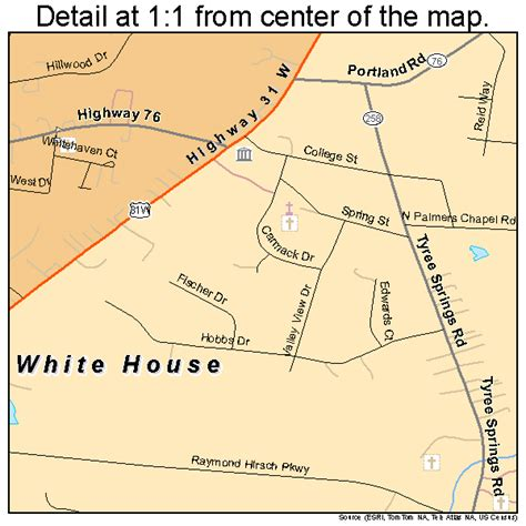 what county is white house tn in white house tennessee street map 4780200