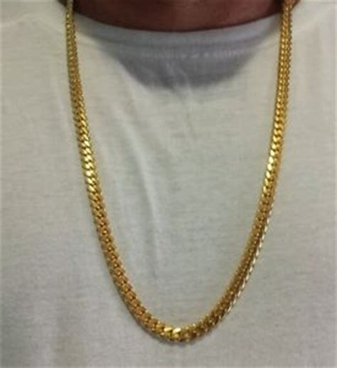 cadenas cubanas 14k 14k miami cuban link chain solid gold 25 quot 7 60 mm 105