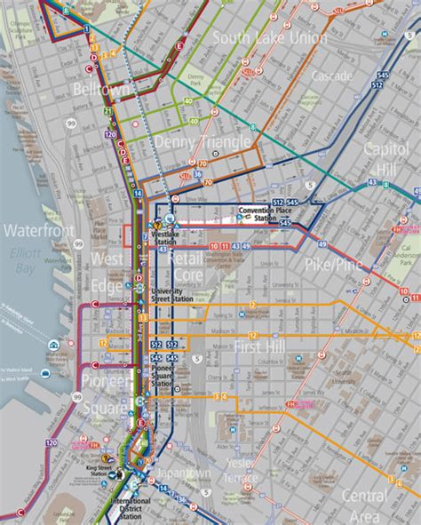 seattle map metro the transit tourist seattle so much to see no time for