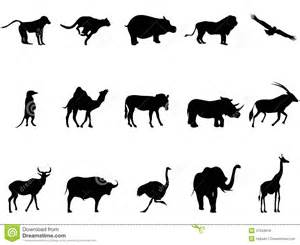 africa animals silhouettes stock vector image of element
