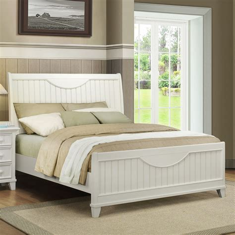 white beadboard headboard tribecca home alderson cottage white beadboard crescent