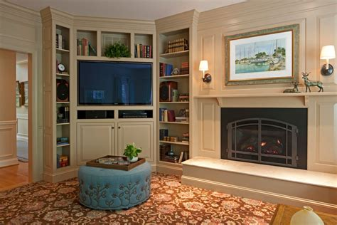 gas fireplace corner unit living room contemporary with